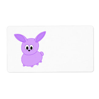 Lilac color bunny. shipping label