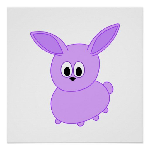 Lilac color bunny. posters