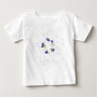 Lilac colored smashed flower design with divots t shirt