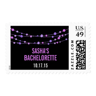 Lilac Confetti Personalized Bachelorette Party Postage