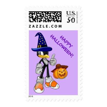 Halloween Themed Lilac Custom Halloween Stamps Wizard Penguin