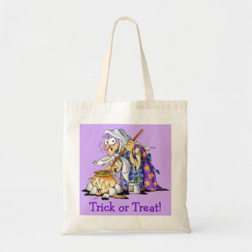 Halloween Themed Lilac Custom Halloween Treat Bags - Purple Witch