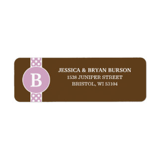Lilac Dainty Dots Custom Monogrammed Family Label