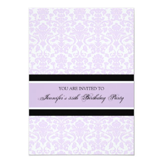 Lilac Damask 35th Birthday Party Invitations