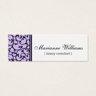 Lilac Damask Beauty Micro Mini Business Cards
