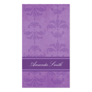 Lilac Damask Business Card