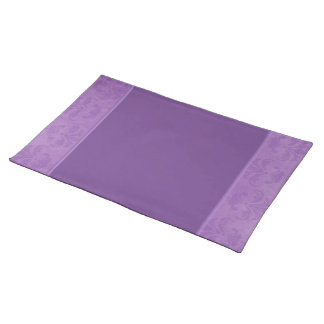 Lilac Damask Cloth Placemat