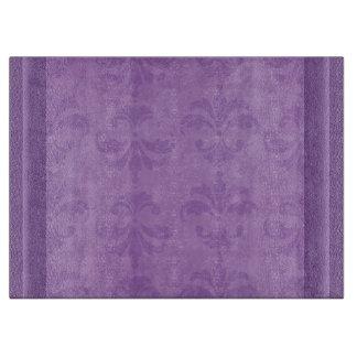 Lilac Damask Cutting Board