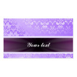 Lilac Damask with Ribbon Business Card Template