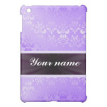 Lilac Damask with Ribbon Cover For The iPad Mini