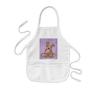 lilac denim and sweet teddy aprons