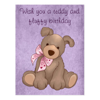 lilac denim and sweet teddy post cards
