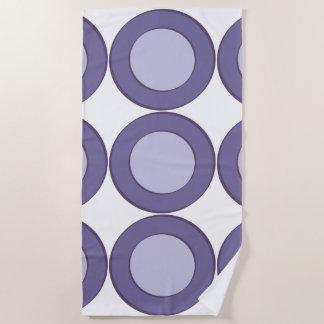 Lilac Dot Beach Towel