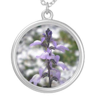 Lilac Dreams Round Pendant Necklace