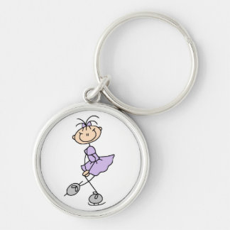 Lilac Dress Figure Skater Tshirts and Gifts Keychain