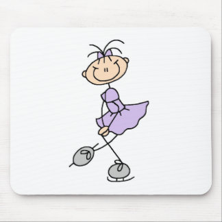 Lilac Dress Ice Skating Girl Mousepad