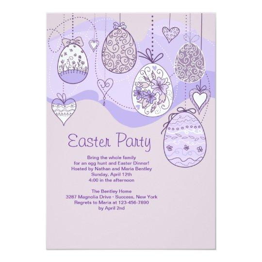 Lilac Easter Invitation