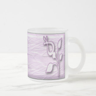 Lilac Elegance #1 Frosted Glass Coffee Mug