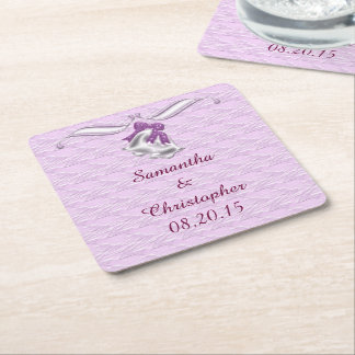 Lilac Elegance #1 Square Paper Coaster