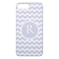 Lilac elegant chevron monogram iPhone 7 plus case