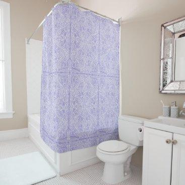 Beach Themed Lilac Elegant flow Shower Curtain