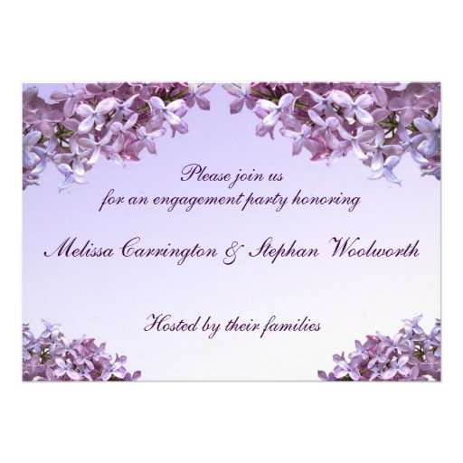 Lilac Engagement Party Invite