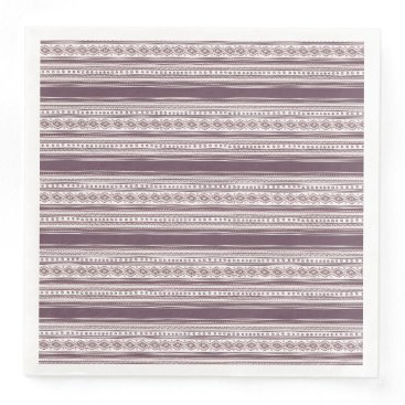 Aztec Themed Lilac Ethnic pattern Dinner Paper Napkins