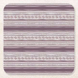 Lilac Ethnic pattern Square Coasters