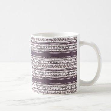 Aztec Themed Lilac Ethnic pattern White 11 oz Classic Mug