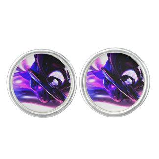 Lilac Fantasy Abstract Cufflinks