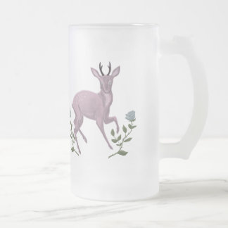Lilac Fawn Frosted Glass Beer Mug