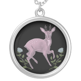 Lilac Fawn Silver Plated Necklace