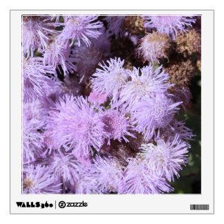 lilac feathery flower wall sticker