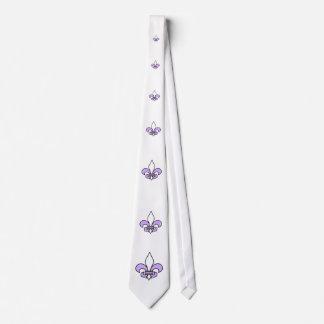 Lilac Fleur de lis Neckties