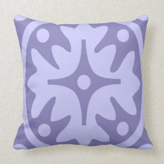 Lilac Floral Abstract Pillows