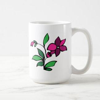 Lilac floral design flower mug