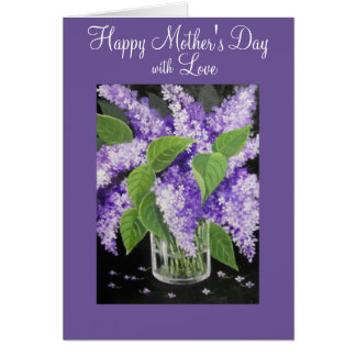 Lilac floral Mother's Day greeting card