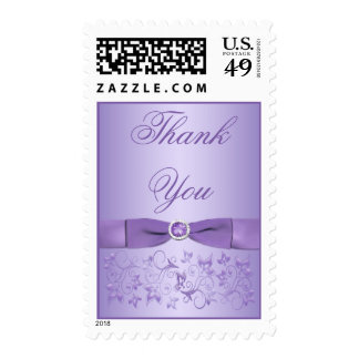 Lilac Floral Thank You Postage