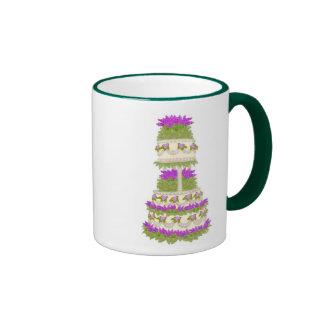 Lilac Floral Wedding Cake Mug