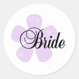Lilac Flower Bride Sticker