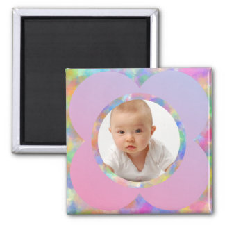 Lilac Flower/Custom Photo 2 Inch Square Magnet