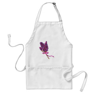 Lilac Flower Design in Summer Flowers Adult Apron