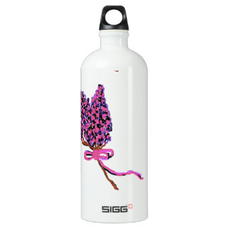 Lilac Flower Design in Summer Flowers Aluminum Water Bottle