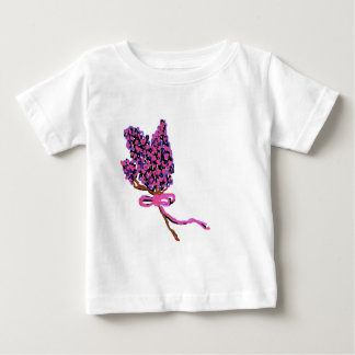 Lilac Flower Design in Summer Flowers Baby T-Shirt