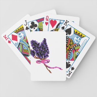 Lilac Flower Design in Summer Flowers Bicycle Playing Cards