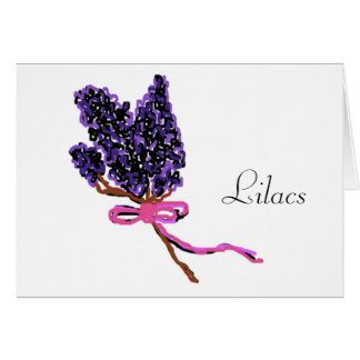 Lilac Flower Design in Summer Flowers Card