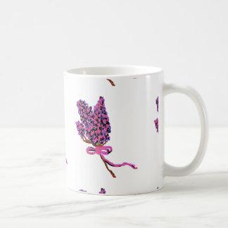 Lilac Flower Design in Summer Flowers Coffee Mug