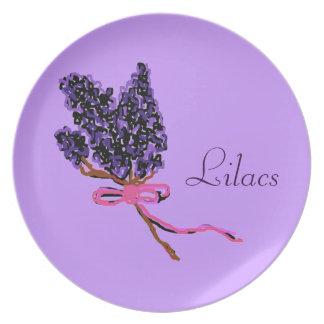 Lilac Flower Design in Summer Flowers Dinner Plate