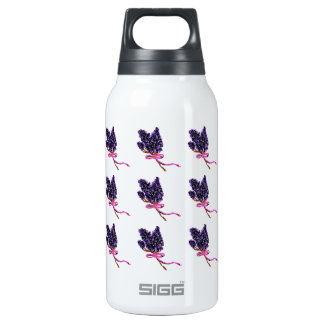 Lilac Flower Design in Summer Flowers Insulated Water Bottle