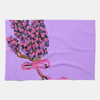 Lilac Flower Design in Summer Flowers Hand Towels